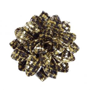 Tweed-Ansteckblüte braungesprenkelt von Heinz Müller