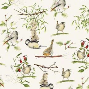 Wintervögel  Papier von Grafiche Tassotti