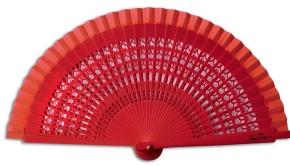 Fächer Mini Mantilla rot von Véra Pilo