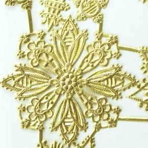 Rosetten/Stern-Goldpapierbogen von Ernst Freihoff