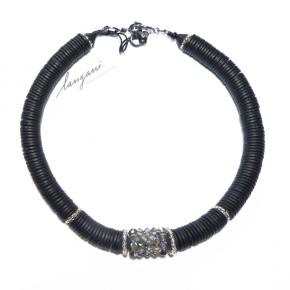 Langani Collier - schwarz mit edlem Glitzer, Art. 10508 11 031