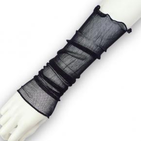Kokon feinste Seidennetzstulpen schwarz