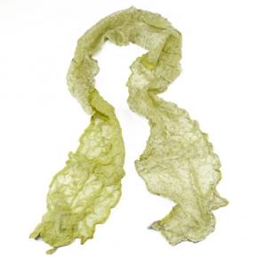 Senas Seidenschal Rossini lemon/hellgrau