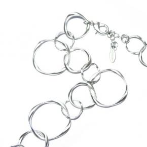 Halskette versilbert STCH 11 k  kurz