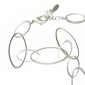 Halskette versilbert STCH 14 kurz