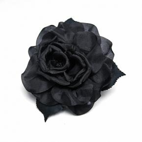 Ansteck-Rose schwarz von Heinz Müller