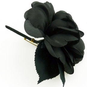 Ansteckblüte schwarz von Heinz Müller