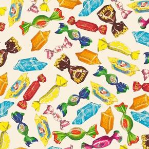 Karamell-Bonbons Papier Grafiche Tassotti