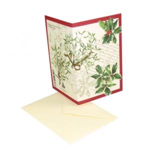 Weihnachtskarte mit Ilex von Tassotti