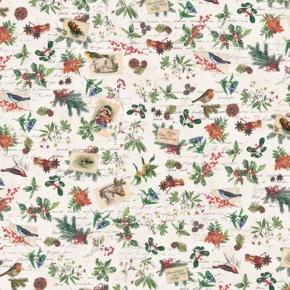 Weihnachtsblumen und Vögelchen  Papier von Grafiche Tassotti