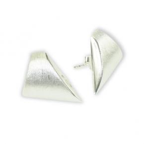 Ohrstecker Silber Dreiecke