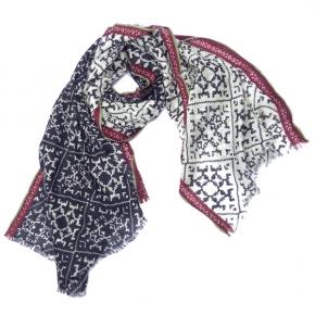 Ahmaddy Wollschal schwarz-weiß