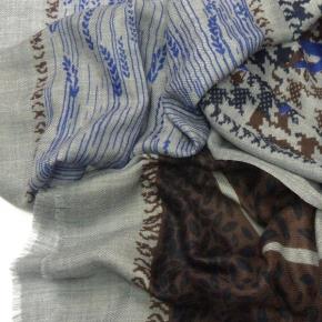 Ahmaddy Seiden-Wollstola mit verschiedenen Mustern