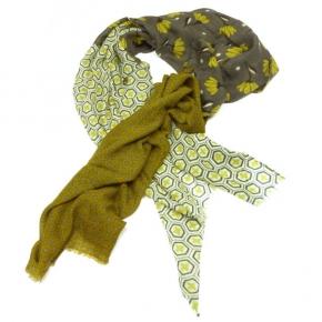 Ahmaddy Wollschal Flower 3Patch
