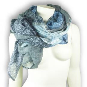 Ahmaddy Seide-Baumwolle Tuch Quadrato blau