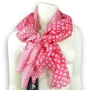 Ahmaddy Seidenschal in pink mit grafischem Muster