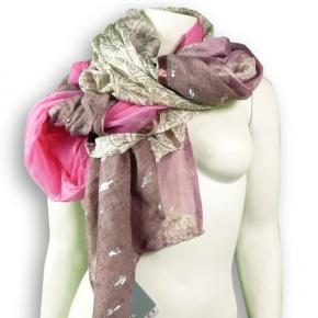 Ahmaddy Seiden-Baumwolltuch Quadrato pink