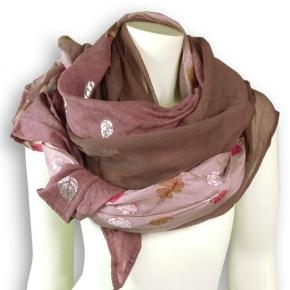 Ahmaddy Seiden-Baumwolltuch Quadrato rose