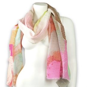 Ahmaddy Leinen-Baumwoll-Schal pastelltöne