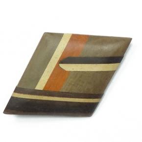 Anstecknadel Holz mit Intarsien