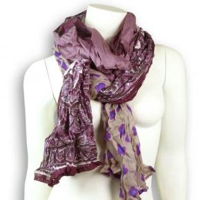 Ahmaddy Seiden-Baumwollschal violette Mischung