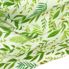 Djian kleines Bio-Baumwolltuch Kräuter grün
