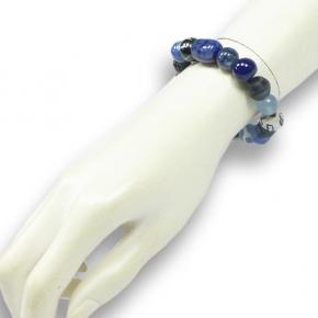 Perlenarmband blau von Djian