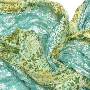 Djian Seidenschal grün 3er Patch