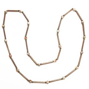 Perlen- und Beingliederkette von Djian in Naturtönen