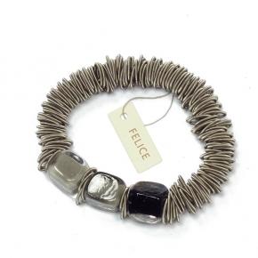 Felice Armband Mura aus Edelstahl und Muranoglas