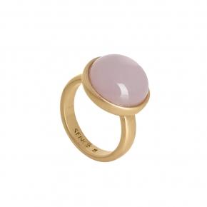 Sence Copenhagen Ring vergoldet mit lavendelfarbener Jade