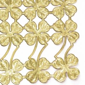 Kleeblätter-Glücksklee Goldpapierbogen von Ernst Freihoff