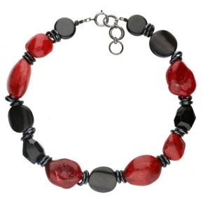 Langani Halskette Marusa schwarz-rot