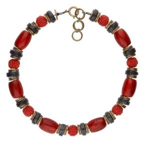 Langani Halskette Sunn in rot-gold-blau