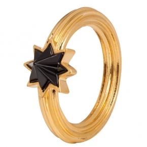 Sence Copenhagen Ring Goldreif mit schwarzem Onyxstern