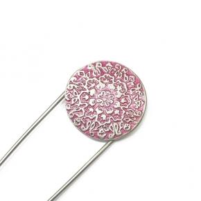 Anstecknadel Ornament pink von Lieblingsstükke