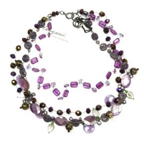 Langani Collier violett perlig und blättrig Art. 1097102006