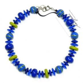 Langani Collier Blau und Gelb Art. 1118211712