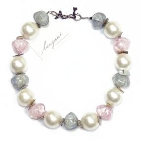 Langani Halskette rosefarben - elegant, Art. 95853151