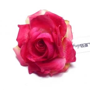 Tee-Rose in rosa zum Anstecken von Lieblingsstükke by Martina Wodke