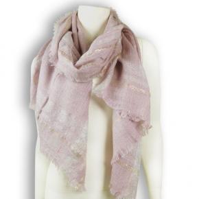 Nila Pila Ylva Wollstola rosa mit Silber und Goldglanz