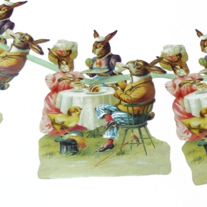 Girlande Osterhasen-Kaffeestunde