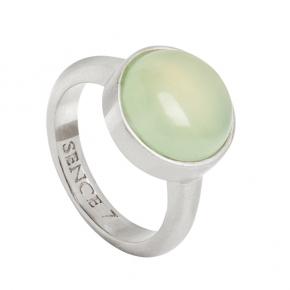 Sence Copenhagen Ring vergoldet mit Jade-Stein P526