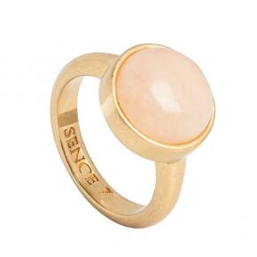 Sence Copenhagen Ring vergoldet mit Jade in rosa P528