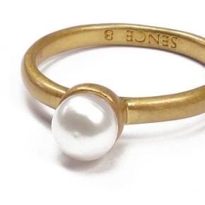 Sence Copenhagen Ring vergoldet mit Perle