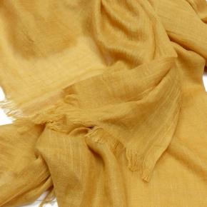 Wolle-Baumwolle Stola in mustard