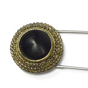 Anstecknadel Antik schwarz von Lieblingsstükke