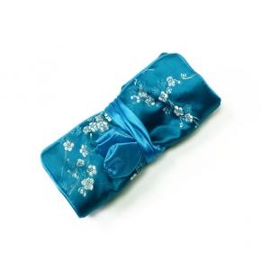 Schmuckrolle klein aus Seide in türkis