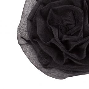 Seidenrose zum Anstecken aus Seidenorganza in schwarz
