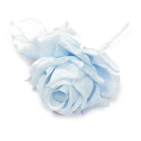 Seidenrose kleine Knospe bleu